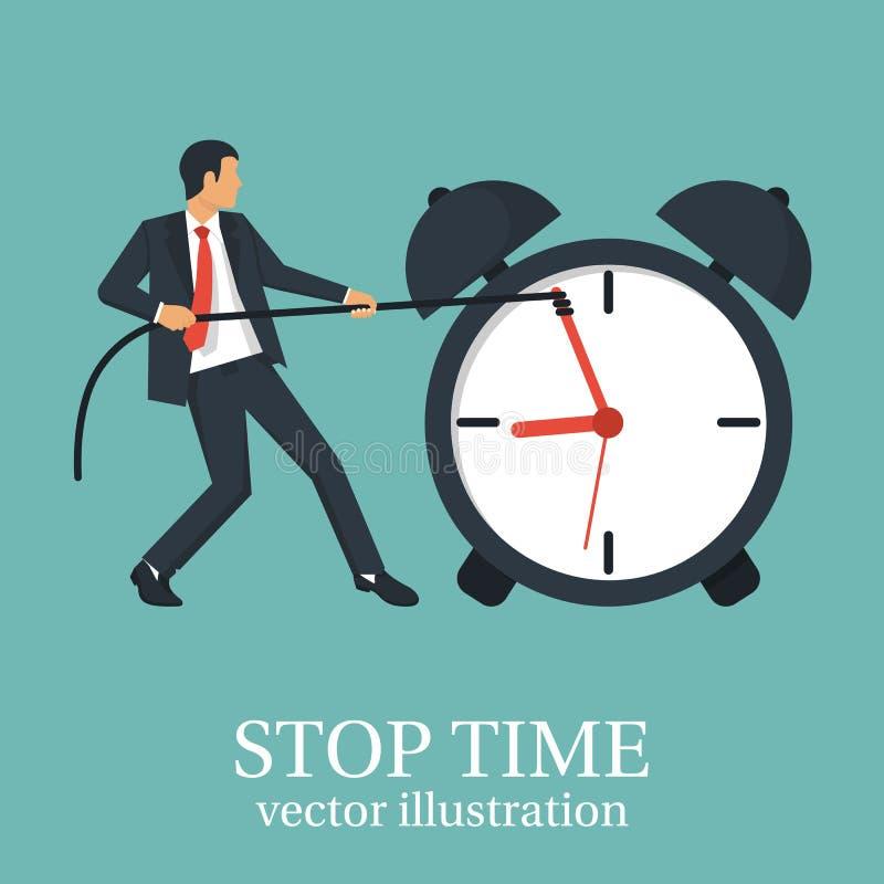 Концепция времени остановки бесплатная иллюстрация