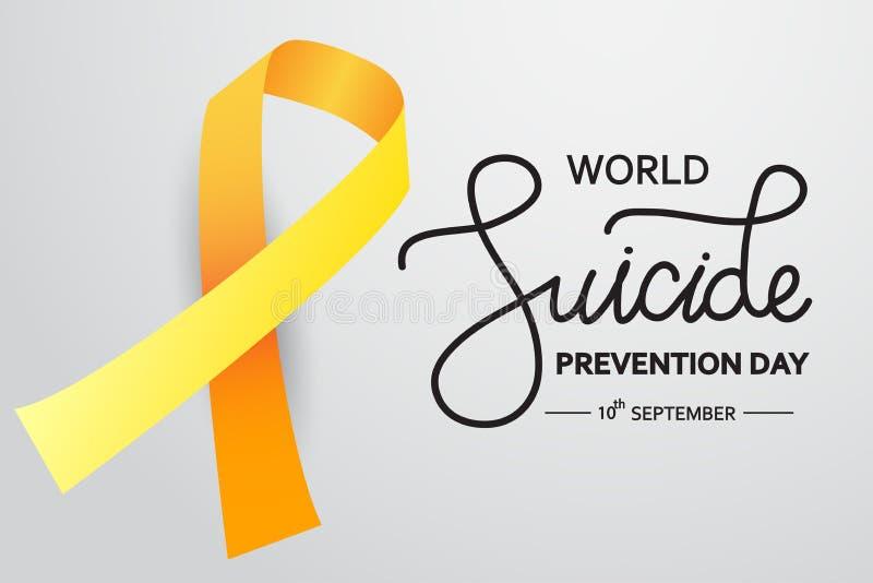 Концепция Всемирного дня предотвращения самоубийств с лентой для  информирования иллюстрация вектора белого фона для веб- и печати  Иллюстрация вектора - иллюстрации насчитывающей нажатие, концепция:  157471554