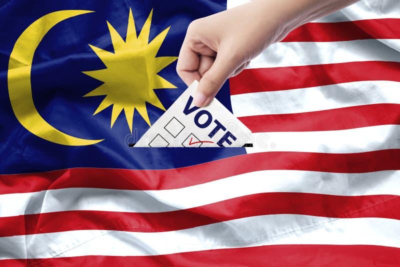 Концепция всеобщих выборов Малайзии близкая рука вверх стоковые изображения rf