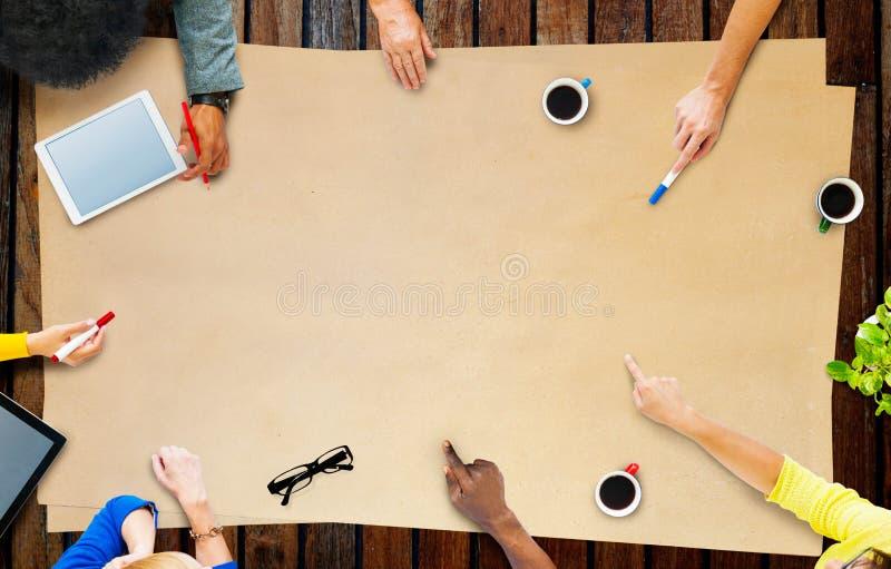 Концепция встречи проекта планирования команды дела стоковое фото rf