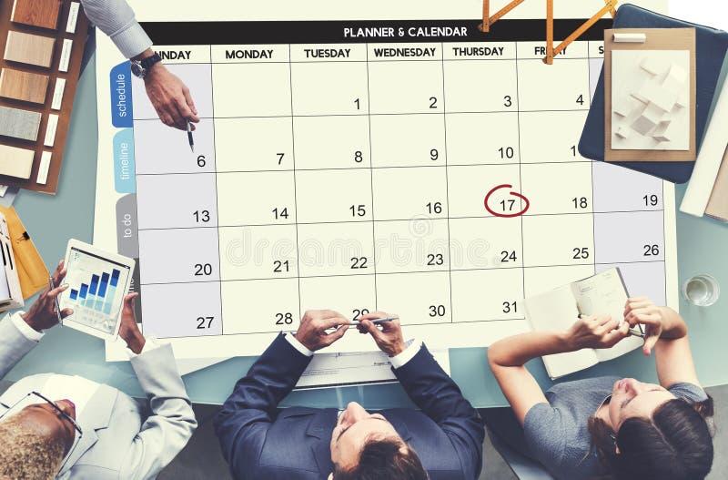 Концепция встречи события крайнего срока дня повестки дня Calenda стоковые изображения rf