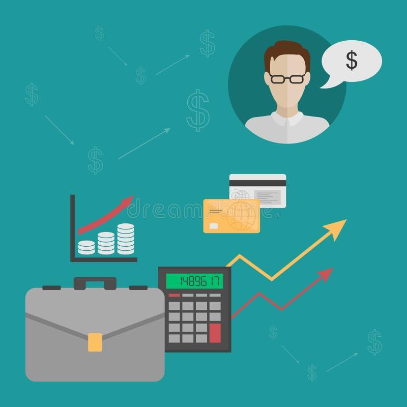 Концепция выгоды и финансового роста бесплатная иллюстрация