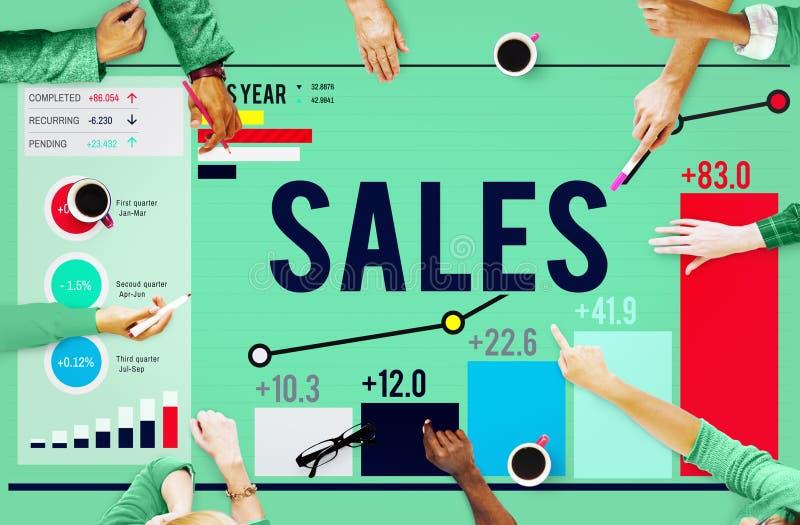 Концепция выгоды дохода денег продаж финансовая стоковое изображение rf