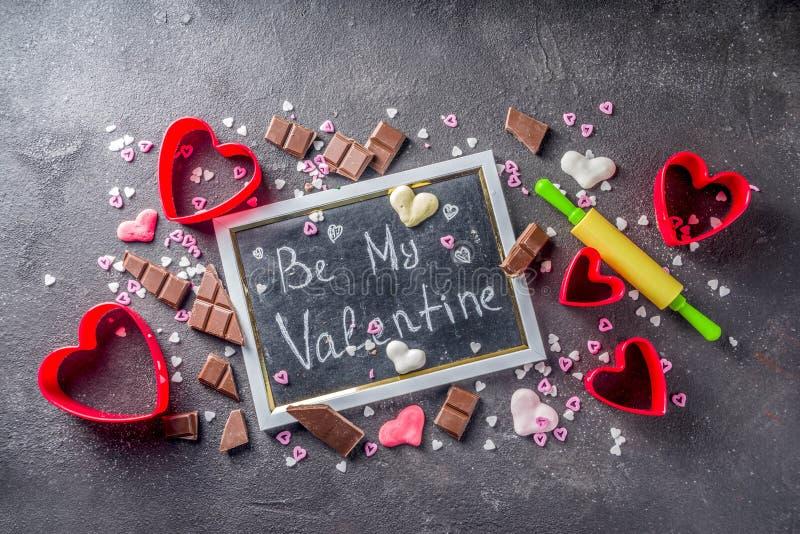 Концепция выпечки дня валентинки стоковые изображения rf