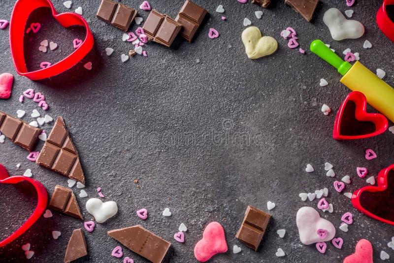 Концепция выпечки дня валентинки стоковые фотографии rf
