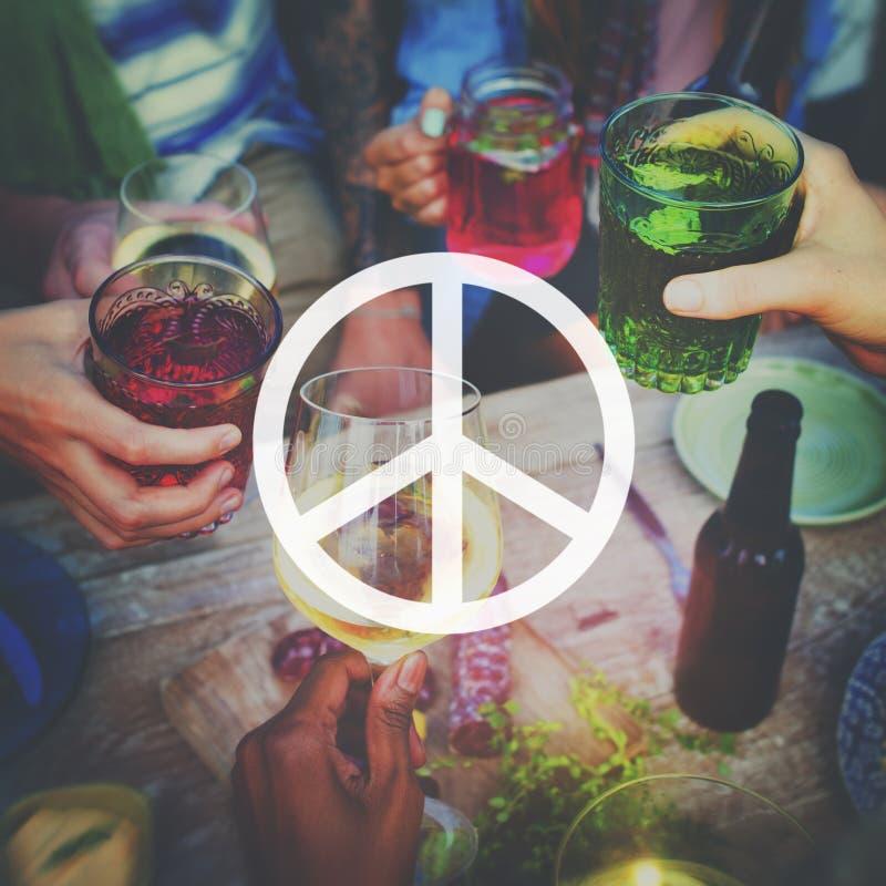 Концепция влюбленности надежды свободы мира пацифистская духовная стоковое изображение rf