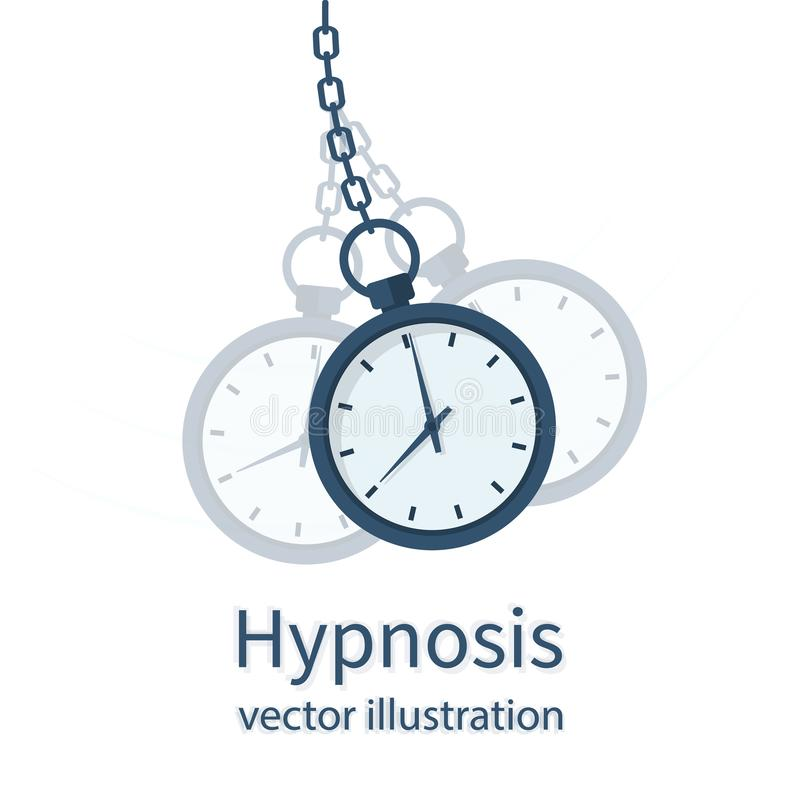Концепция гипнозом Вахта на цепи иллюстрация вектора