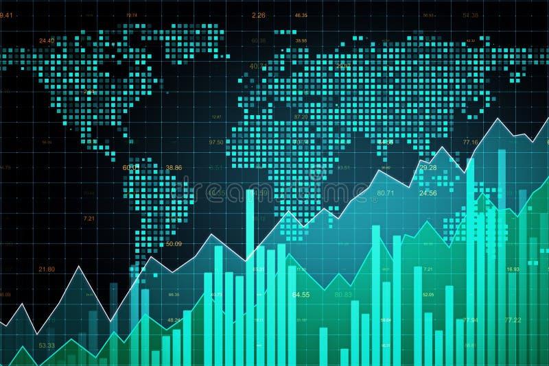 Концепция глобального бизнеса и торговли иллюстрация вектора