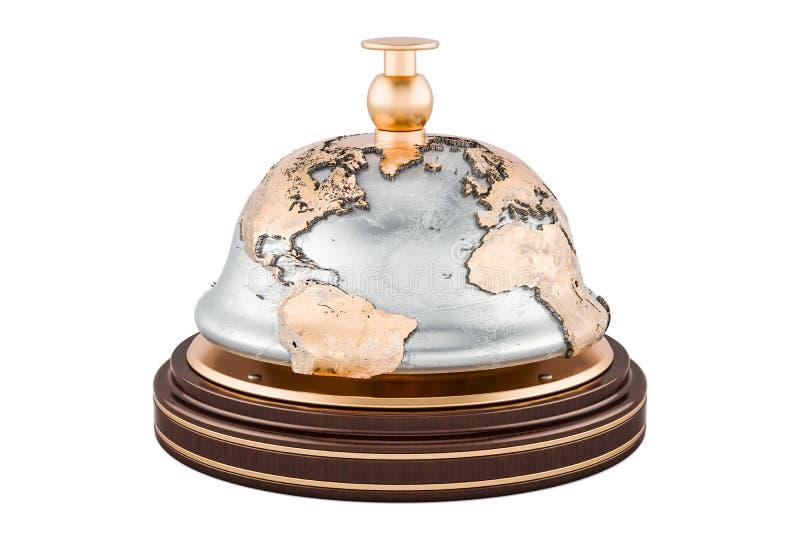 Концепция глобального сервиса, перевод 3D иллюстрация штока