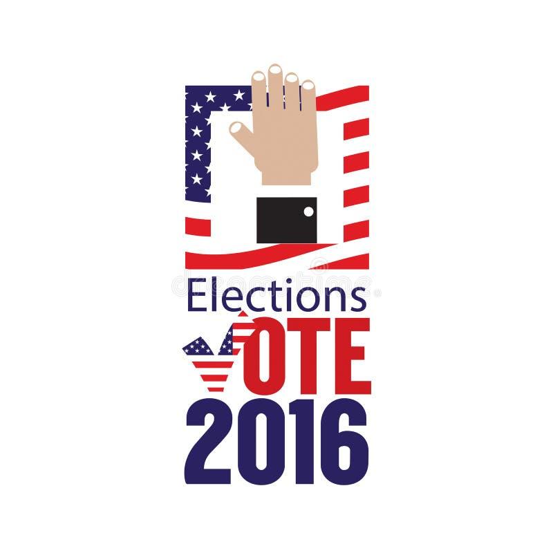Концепция 2016 голосования избраний США иллюстрация штока