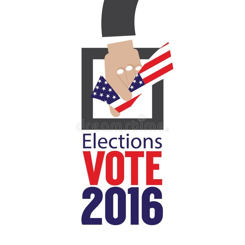 Концепция 2016 голосования избраний США бесплатная иллюстрация