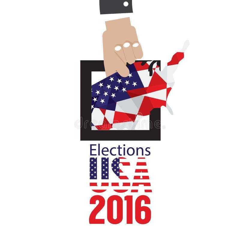 Концепция 2016 голосования избраний США иллюстрация вектора