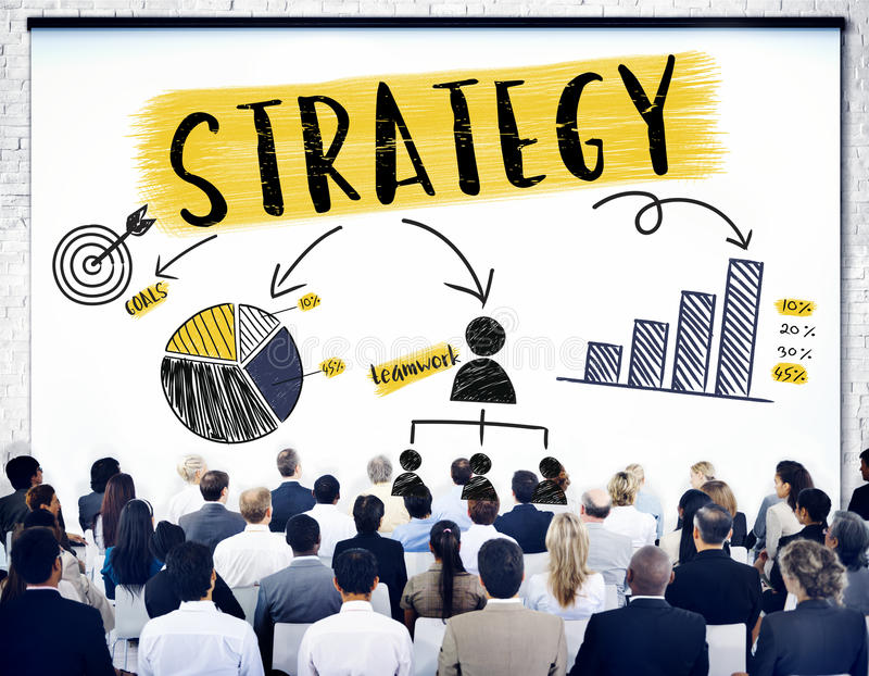 Концепция графика диаграммы планирования стратегии клеймя стоковые изображения