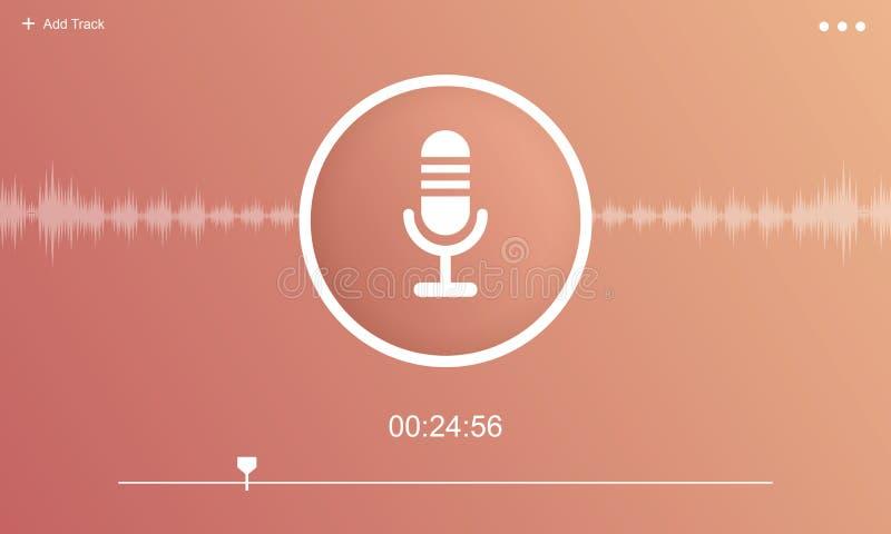 Концепция графика средств массовой информации Podcast микрофона тональнозвуковая бесплатная иллюстрация