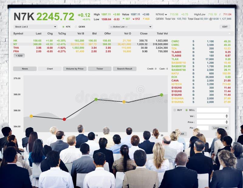 Концепция графика финансов валют фондовой биржи торгуя стоковые изображения