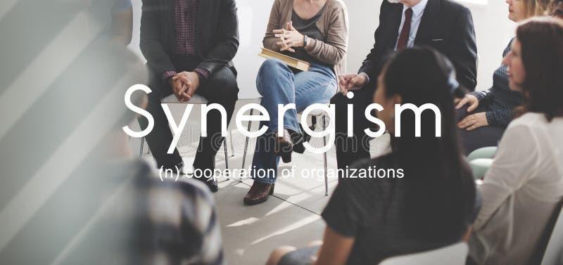 Концепция графика людей команды синергизма стоковое изображение