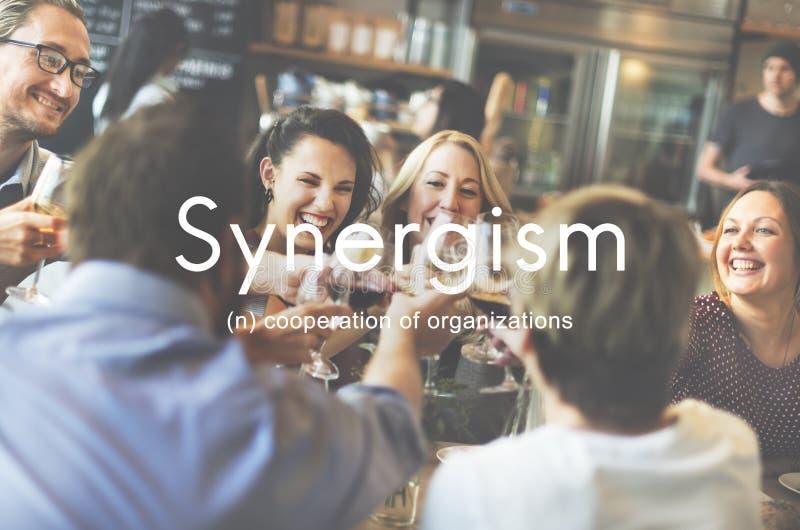 Концепция графика людей команды синергизма стоковое изображение rf