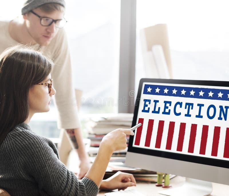 Концепция графиков референдума демократии голосования избрания стоковые изображения rf
