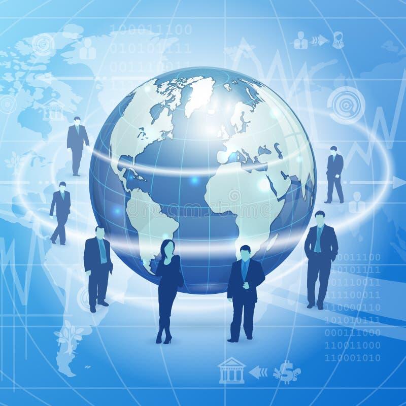 Концепция глобального бизнеса иллюстрация штока
