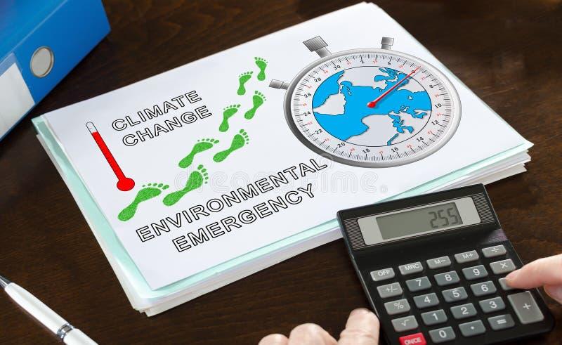 Концепция глобального потепления проиллюстрированная на бумаге стоковое изображение