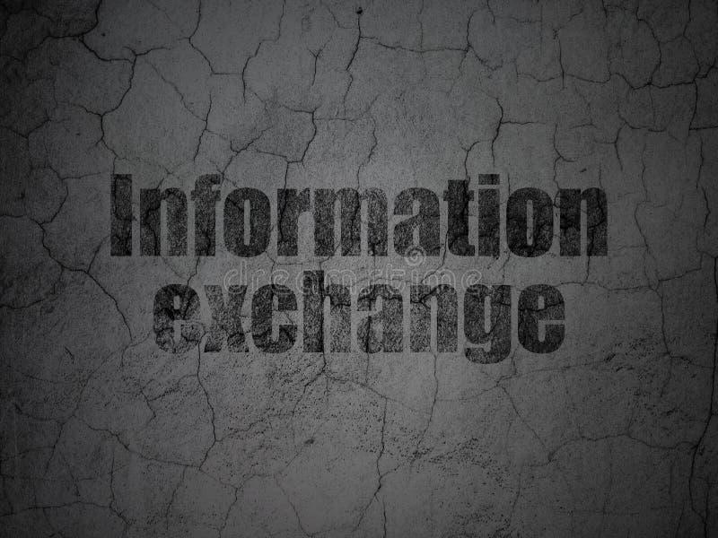 Концепция данных: Обмен информацией на предпосылке стены grunge иллюстрация штока