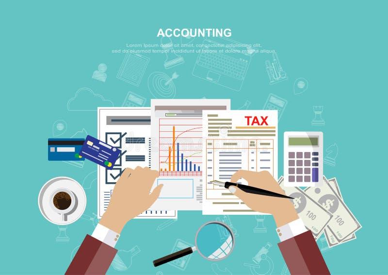 Концепция дела для финансов также вектор иллюстрации притяжки corel стоковое изображение