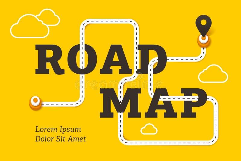 Концепция дела дорожной карты с извилистой дорогой бесплатная иллюстрация