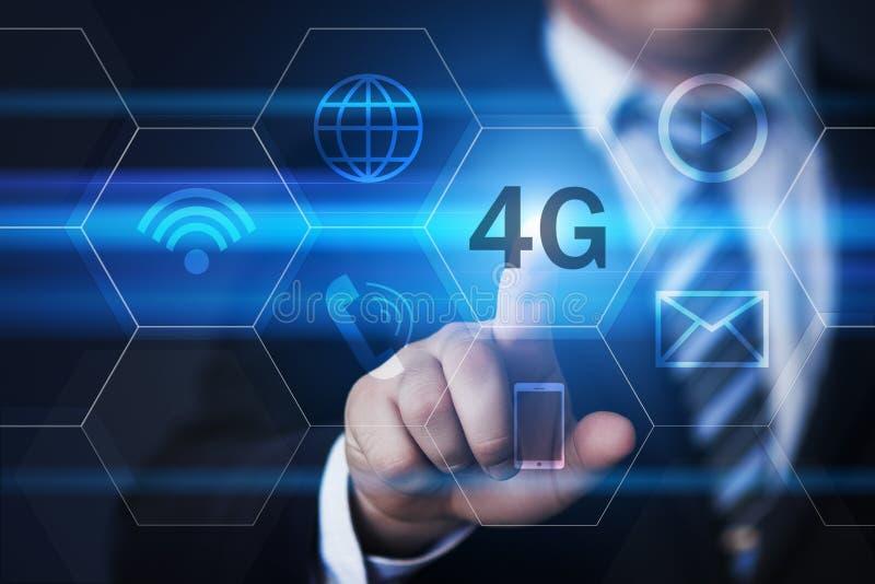 концепция дела интернета сети 4G передвижная беспроволочная стоковая фотография rf