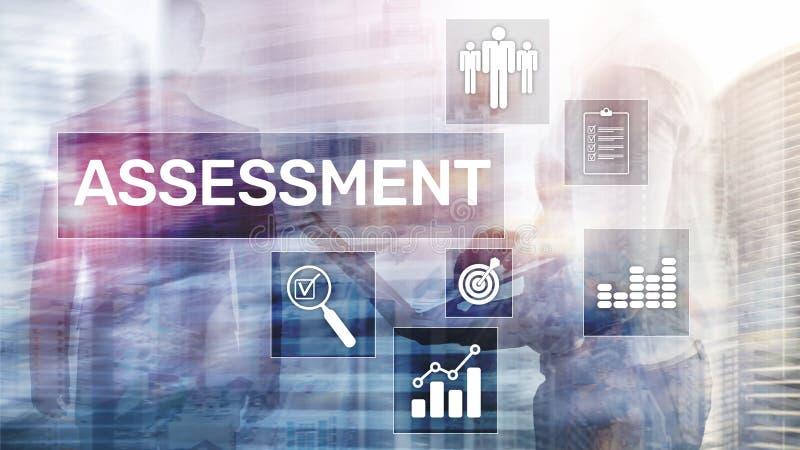 Концепция дела и технологии анализа аналитика измерения оценки оценки на запачканной предпосылке бесплатная иллюстрация
