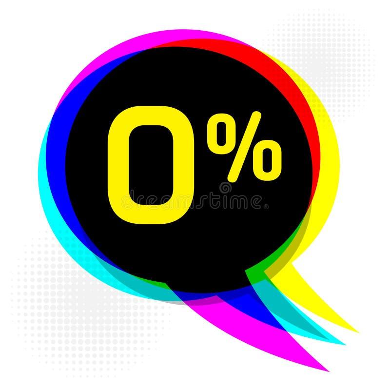 Концепция дела пузыря речи с текстом скидка нул процентов иллюстрация штока