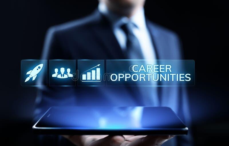 Концепция дела роста возможности карьеры личная на экране стоковое фото