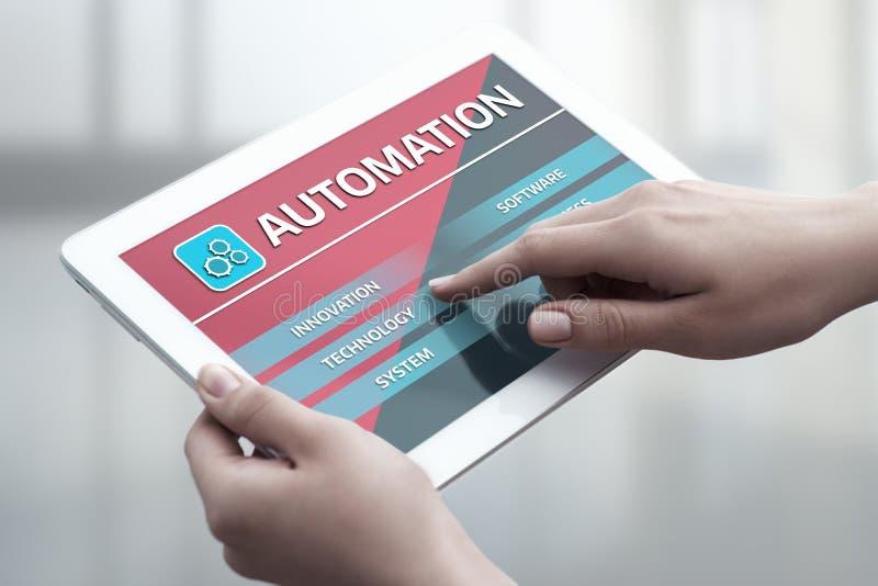 Концепция дела системы процесса программных технологий автоматизации стоковое изображение rf