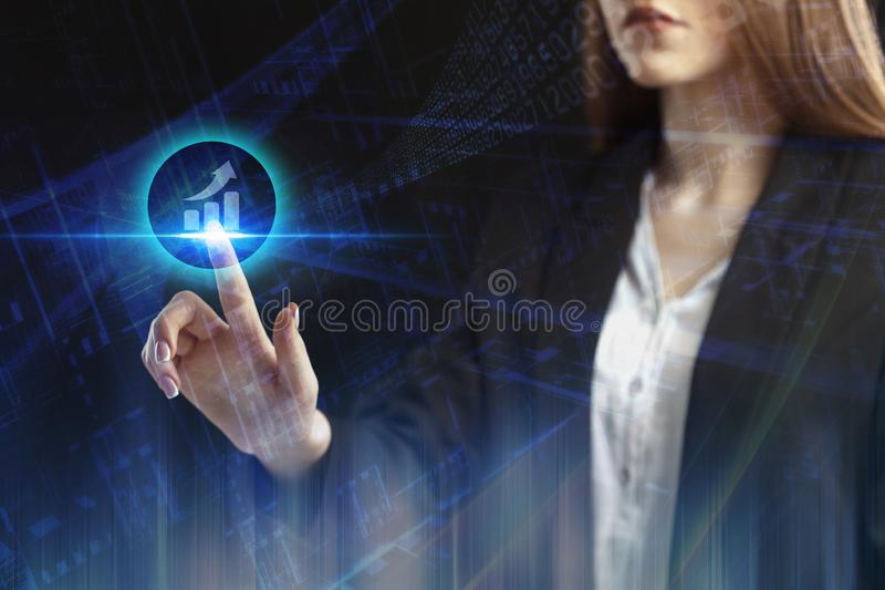 Концепция дела, технологии, интернета и networ стоковое фото