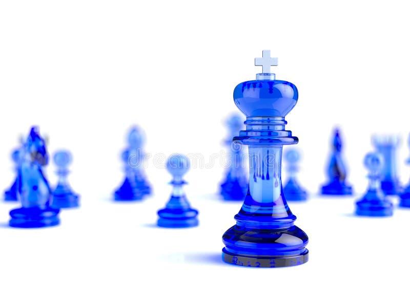 Концепция дела шахмат иллюстрация штока