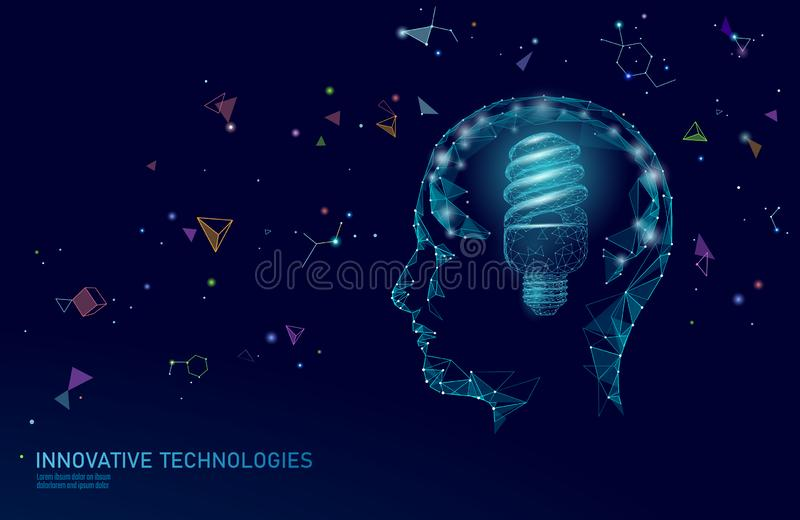 Концепция дела IQ человеческого мозга умная Научный коллектив идеи экологичности люминесцентной лампы Работа над проектом идеи бр бесплатная иллюстрация