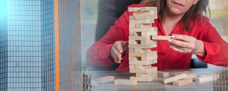 Концепция делового риска; множественная выдержка стоковые изображения rf