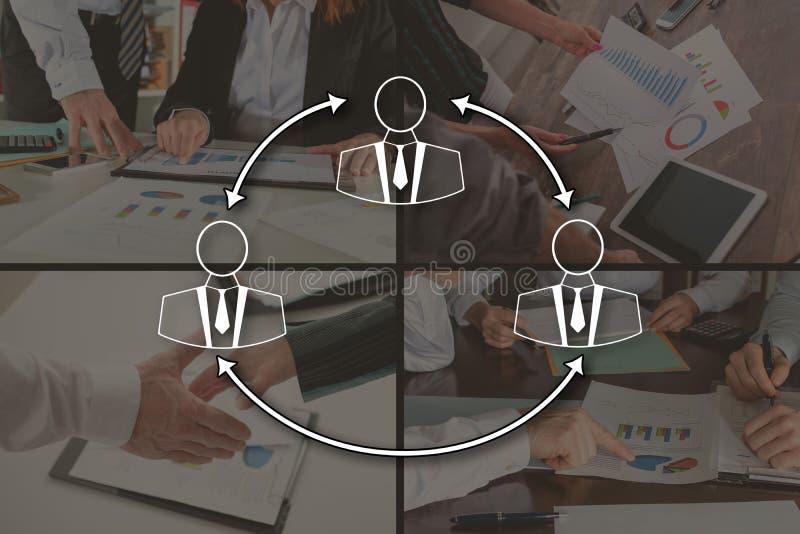Концепция делового сообщества стоковое изображение rf