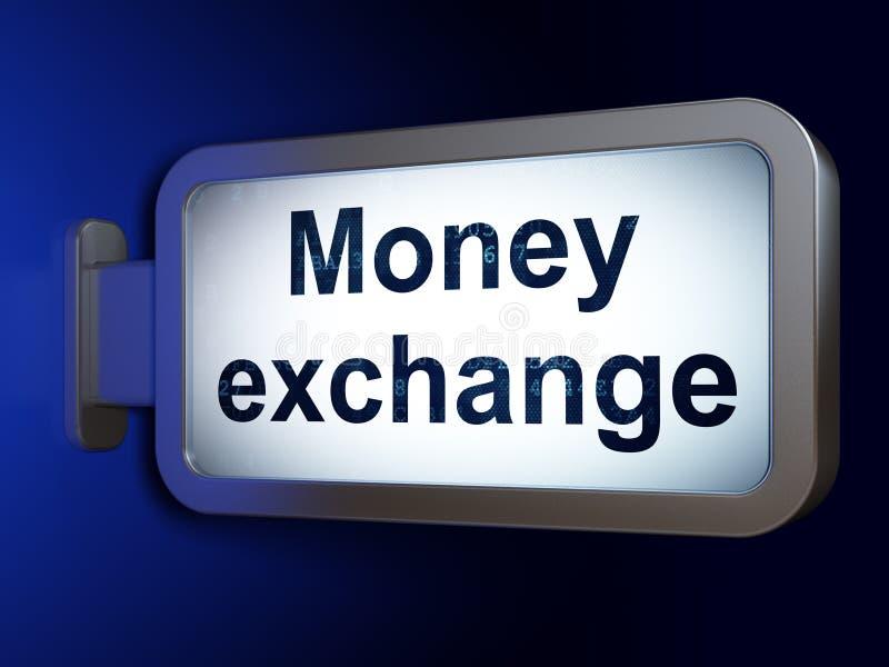 Концепция денег: Обмен денег на предпосылке афиши бесплатная иллюстрация