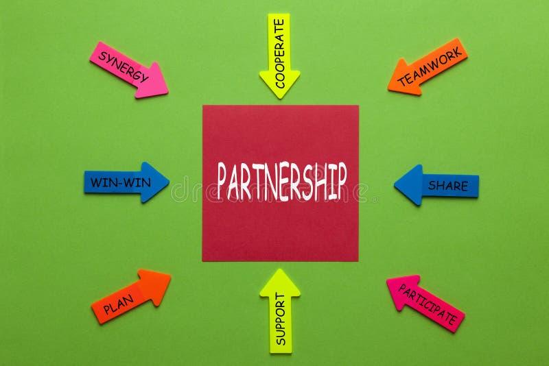 Концепция диаграммы партнерства стоковое фото rf