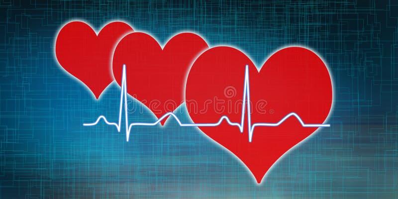 Концепция диаграммы сердцебиений иллюстрация вектора