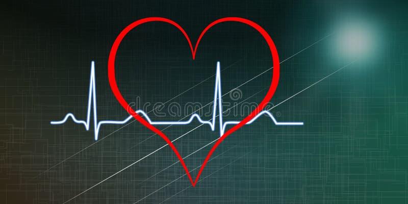 Концепция диаграммы сердцебиений иллюстрация штока