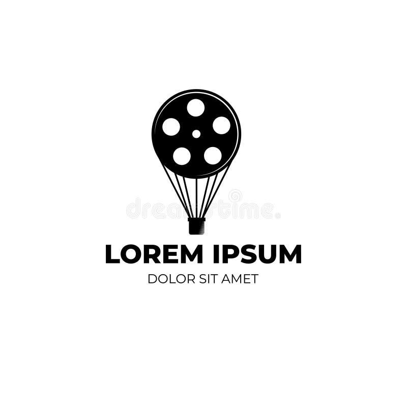 Концепция дизайна логотипа с двойным значением логотипа 'Кинематограф бесплатная иллюстрация