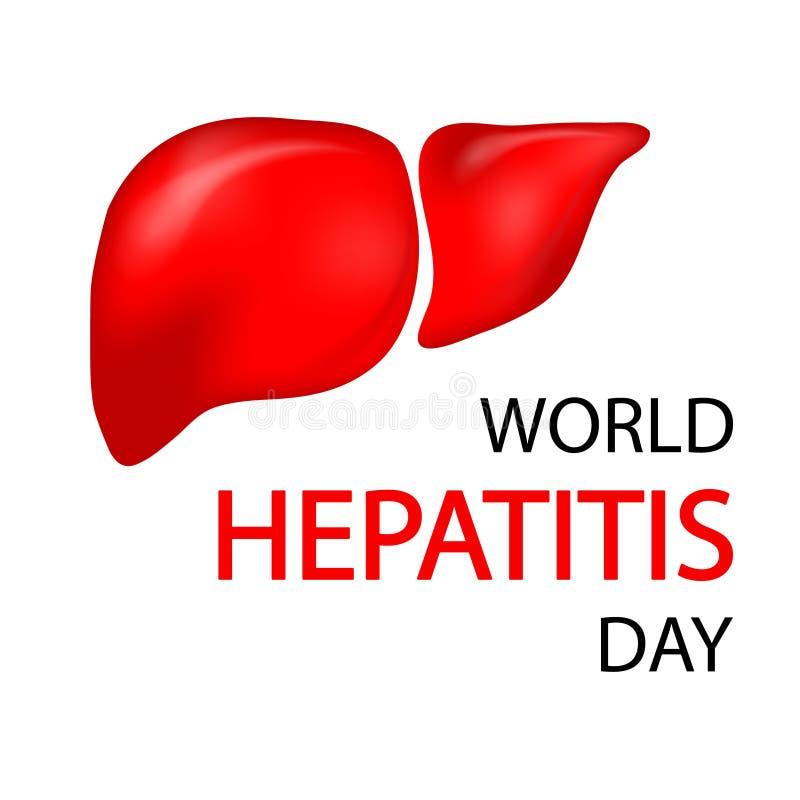 Концепция дня гепатита мира иллюстрация штока