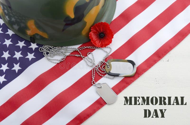 Концепция Дня памяти погибших в войнах США стоковая фотография