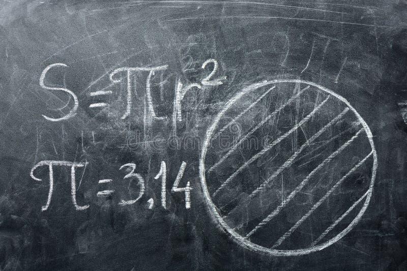 Концепция дня PI Круги и формулы чертежей с PI стоковое изображение rf