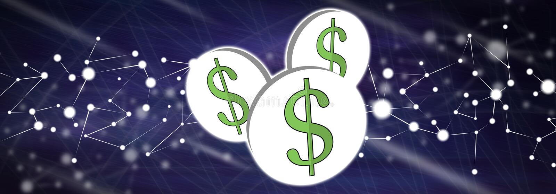 Концепция доллара иллюстрация штока