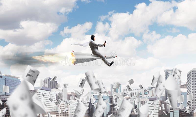 Концепция достижения успеха в бизнесе и целей стоковая фотография rf