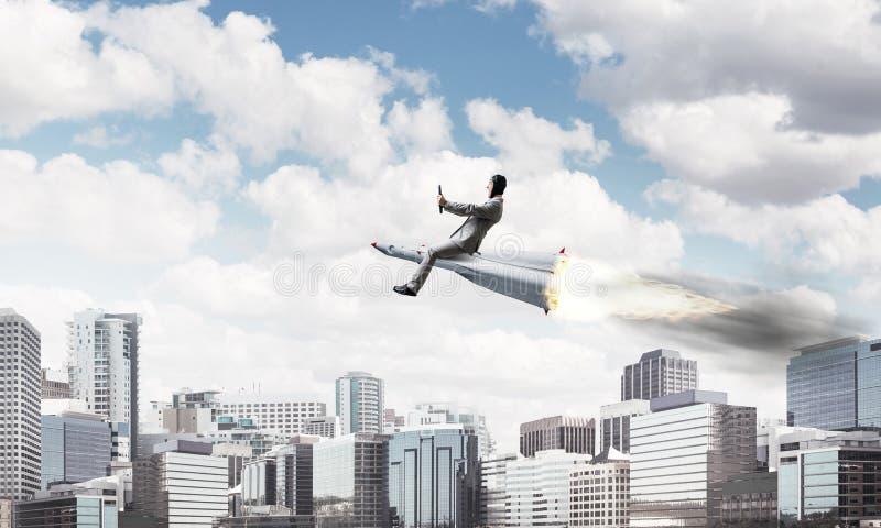 Концепция достижения успеха в бизнесе и целей стоковое фото