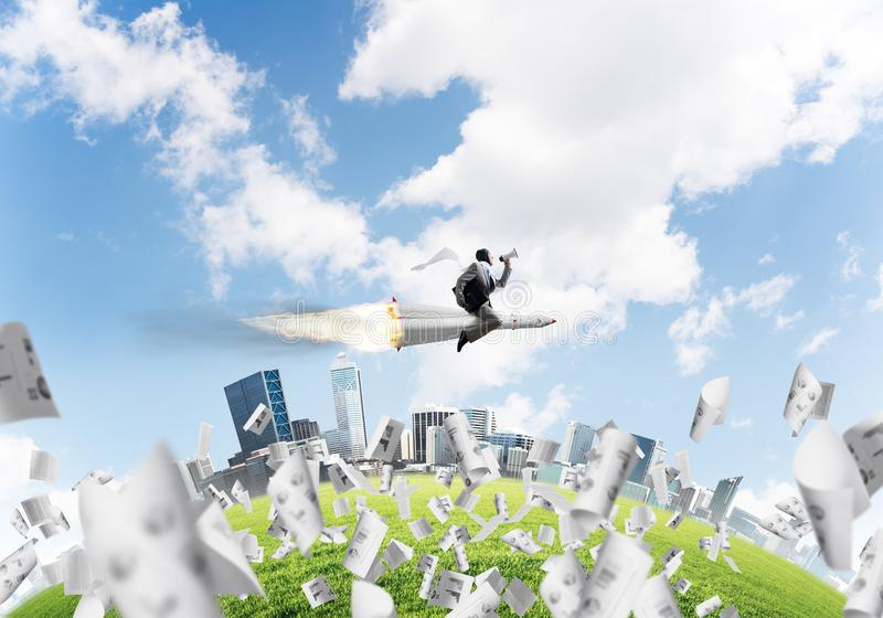 Концепция достижения успеха в бизнесе и целей стоковая фотография