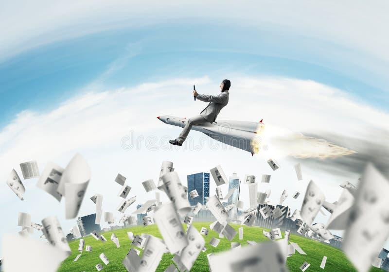 Концепция достижения успеха в бизнесе и целей стоковое изображение rf